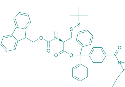 Fmoc-L-Cys(StBu)-TCP-Resin