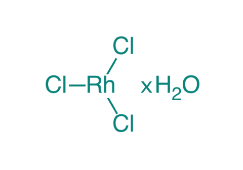 Rhodium(III)-chlorid Hydrat, 95%