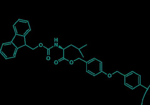 Fmoc-Leu-Wang-Harz (1% DVB; 100-200 mesh; 0,3-0,8 mmol/g)