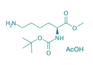 Boc-Lys-OMe · AcOH, 95%